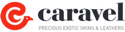 Logo Caravel Spa, Luxury and exotic leathers made in Italy